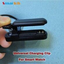 Astuto Della Vigilanza 2Pin Clip Caricatore 4 millimetri 3 millimetri Universale Dock di Ricarica Per una Crescita Intelligente Wristband Del Braccialetto USB di Ricarica Originale cavo