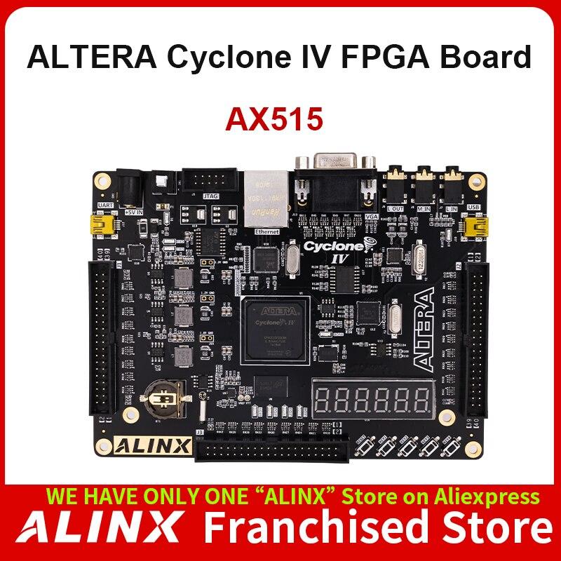 ALINX AX515: ALTERA NIOS Cyclone IV EP4CE15F FPGA Development Board DDR2 Gigabit Ethernet USB
