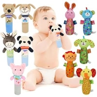 baby toys 0 12 months cute animal hanging rattles built in bb infant baby toys gifts stuffed handbells hand bell plush doll