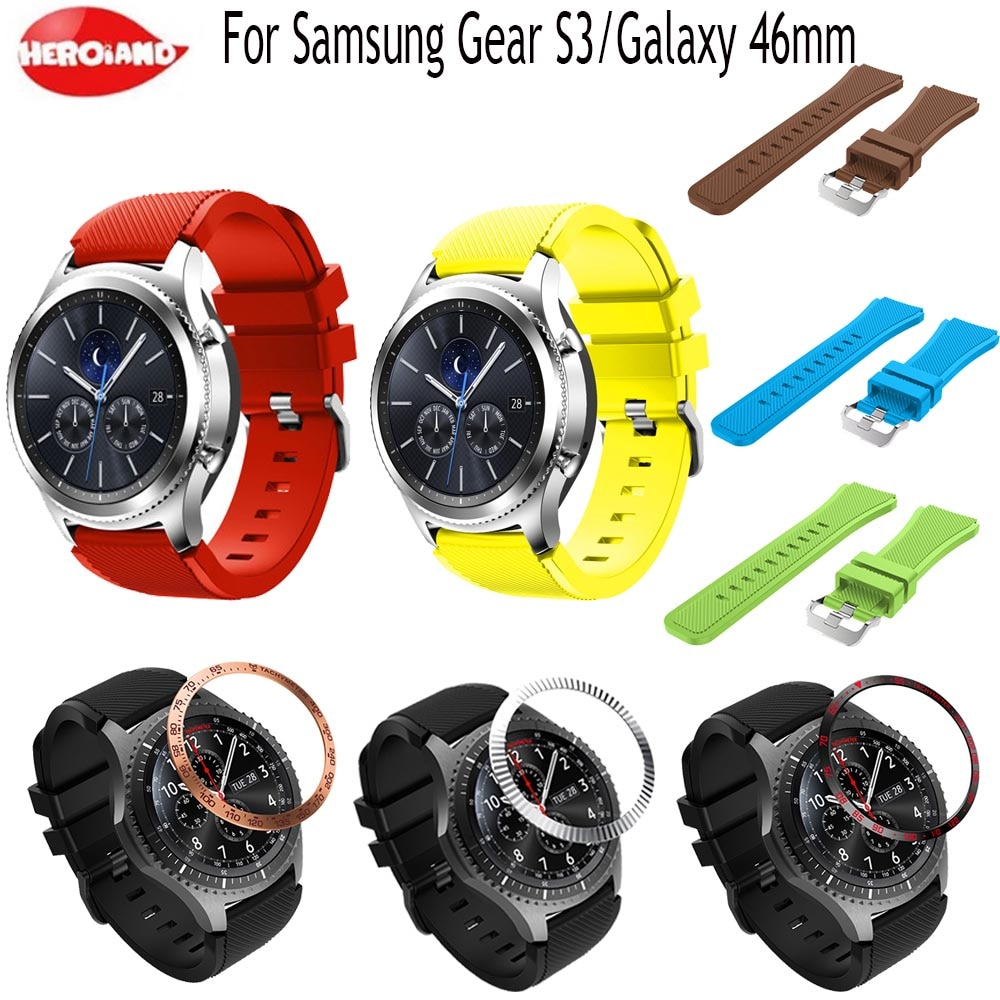 Gear S3 Frontier band for Galaxy watch 46mm strap Ring Bezel Styling Frame Case Protection For Samsung