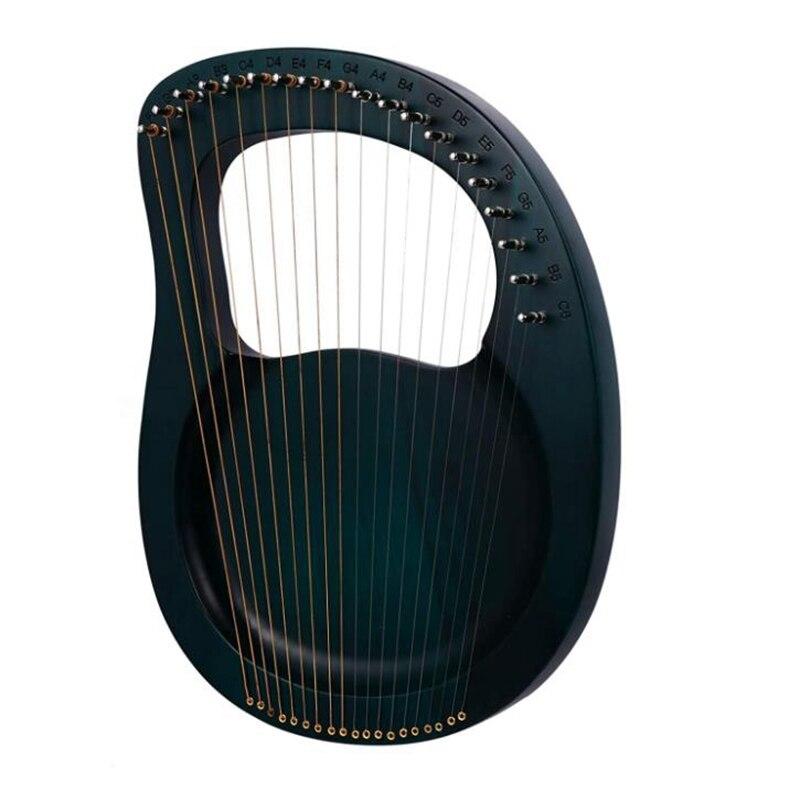 قيثارة خشبية Lyre Harp 19 سلسلة ، سلسلة معدنية ، قيثارة Lyre مع مفتاح ضبط ، سلاسل ، خطافات لمحبي الموسيقى ، إلخ.