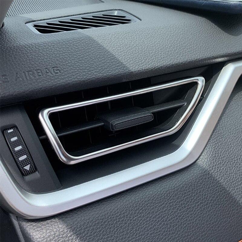Para Toyota Rav4 V XA50 2019 up cubierta de moldura de salida de aire decoración de acero inoxidable accesorios de estilo de coche Car Styling