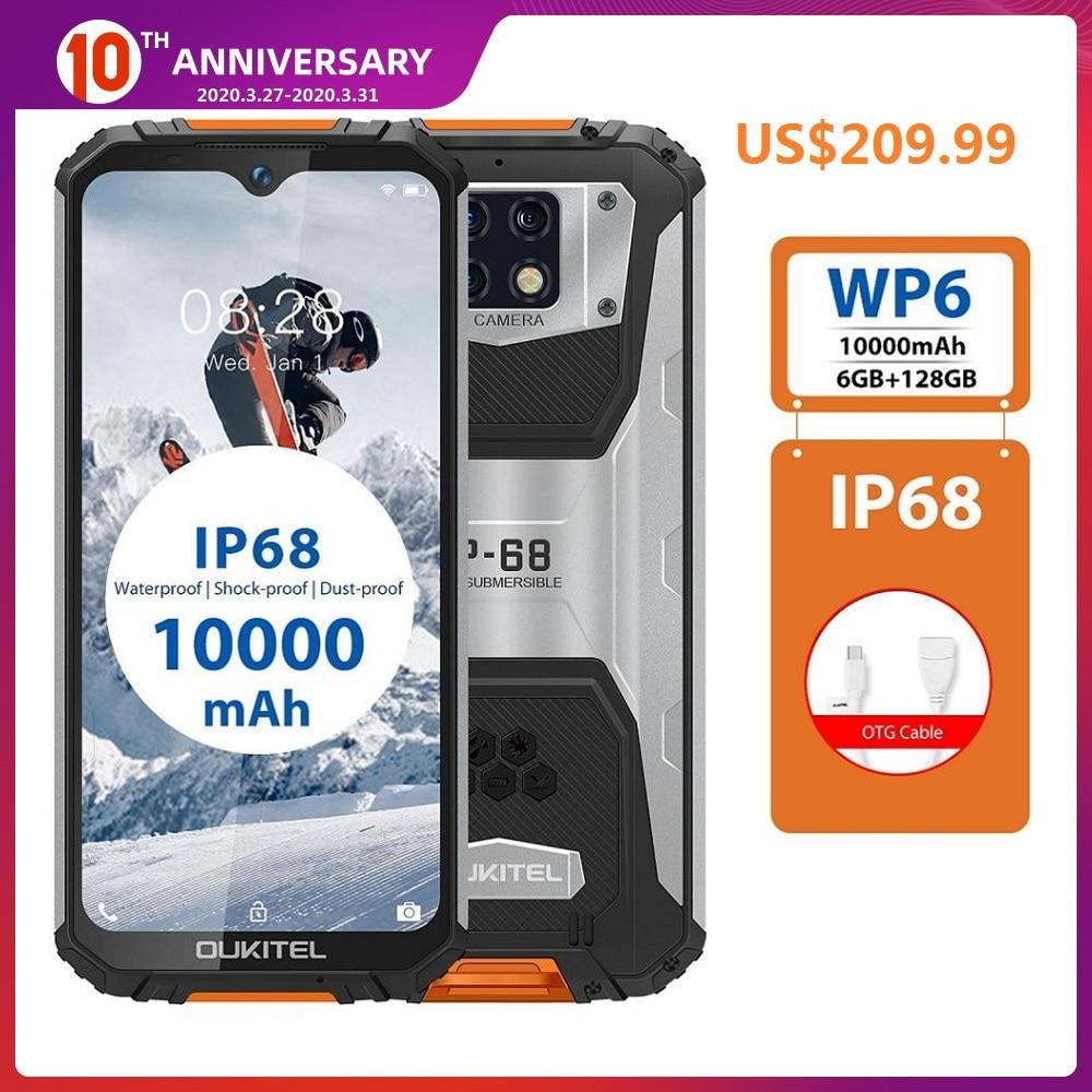 Перейти на Алиэкспресс и купить OUKITEL WP6 4G водонепроницаемый смартфон, экран 6,3 дюйма, 10000 мАч, 6 ГБ ОЗУ 128 Гб ПЗУ