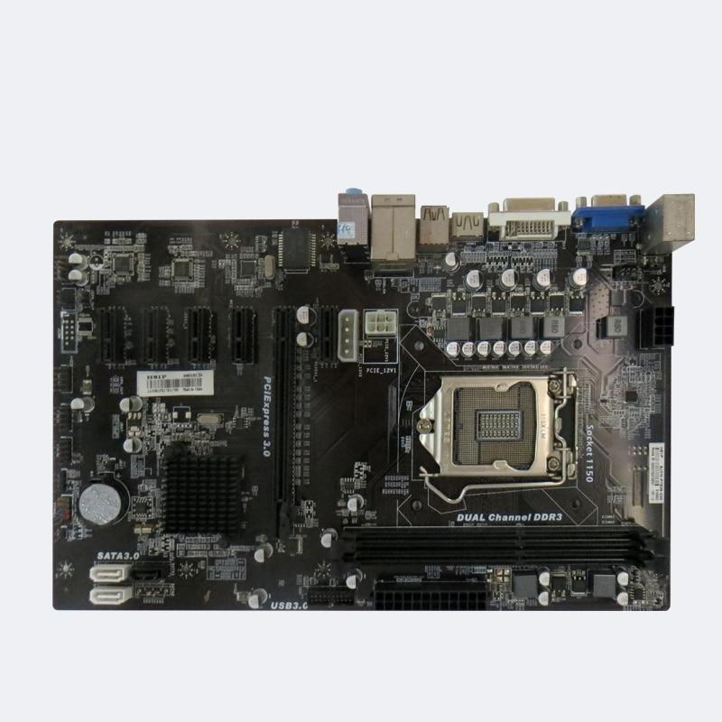 H81 PRO BTC 6 graphics card motherboard 6GPU 6PCI-E motherboard LGA 1150 H81 BTC PRO TB85 mining motherboard