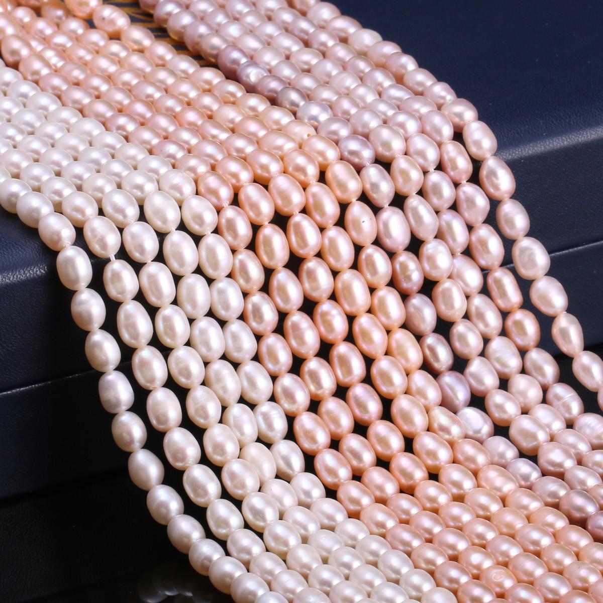 Natural de água doce pérolas cultivadas contas forma arroz 100% pérolas naturais para fazer jóias diy colar pulseira acessórios