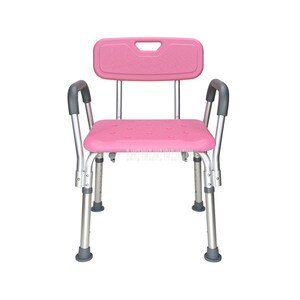 Anti-Skid Pregnant Woman Bath Chair Shower Stool With Armrest Height Adjustable Bath Shower Chair For Elderly/Disabled People