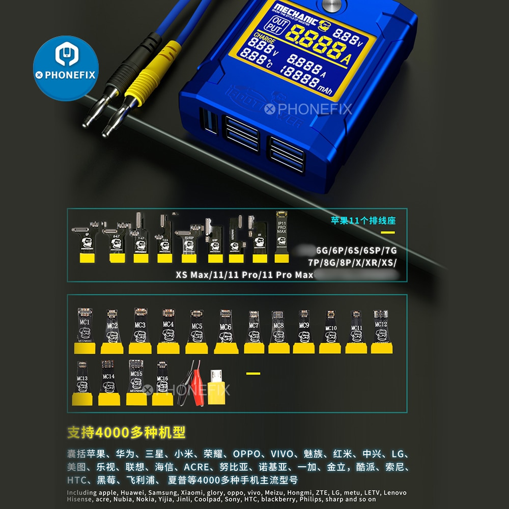 Mechanic iBoot Power DC Power Supply Test Host Boot Cable For iOS and Android Phone Motherboard Repa