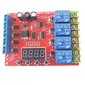 H411 DC 5V 12V 24V 4-channel time delay relay with adjustable delay multi-channel control timing output instead of PLC