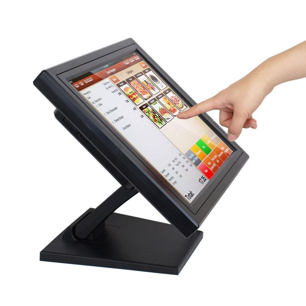 Nueva 15 pulgadas Ultra-Delgado ligero TFT pantalla LED pantalla táctil Monitor exquisita carcasa para restaurante venta al por menor Bar Pub