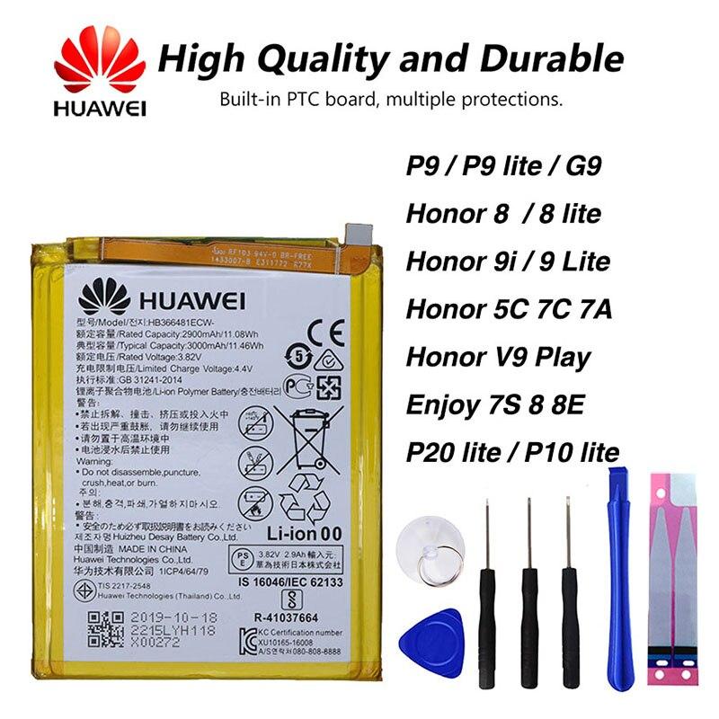 Bateria ultraleve original huawei, bateria para huawei honor 8, honor 5c, ascend p9, p9 lite, g9 p20 lite, p10 lite, 2900mah