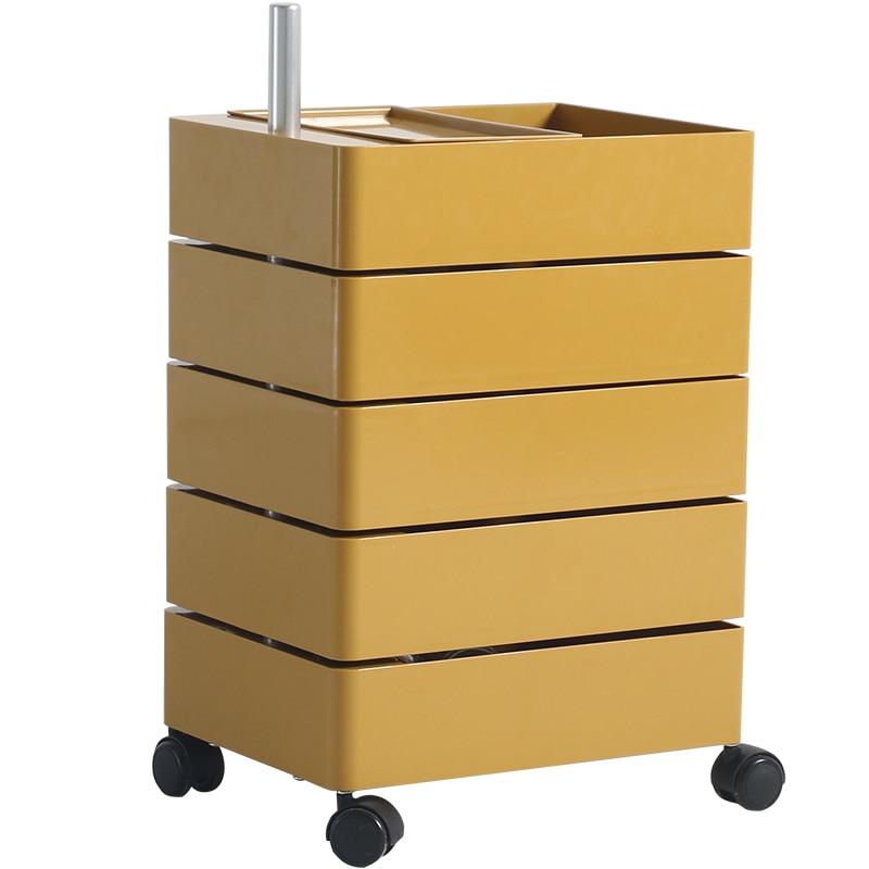 360 الدورية السرير خزانة حافظة ملفات تخزين خزانة جانبية مكتب متعدد الطبقات ins خزانة طاولة جانبية المنقولة