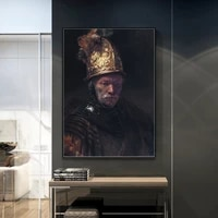 rembrandt harmenszoon van rijn the man with the golden helmet canvas print painting for hallway home decor %d0%ba%d0%b0%d1%80%d1%82%d0%b8%d0%bd%d1%8b %d0%bd%d0%b0 %d1%81%d1%82%d0%b5%d0%bd%d1%83