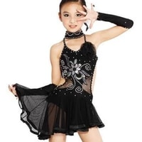 childrens latin dance performance costume girl bright diamond ballroom dance competition dresses