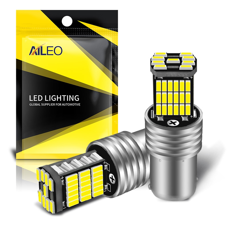 AILEO 2PCS 1156 BA15S P21W S25 7506 LED Bulbs High Power 45pcs 4014SMD Super Bright 1200LM Replace F