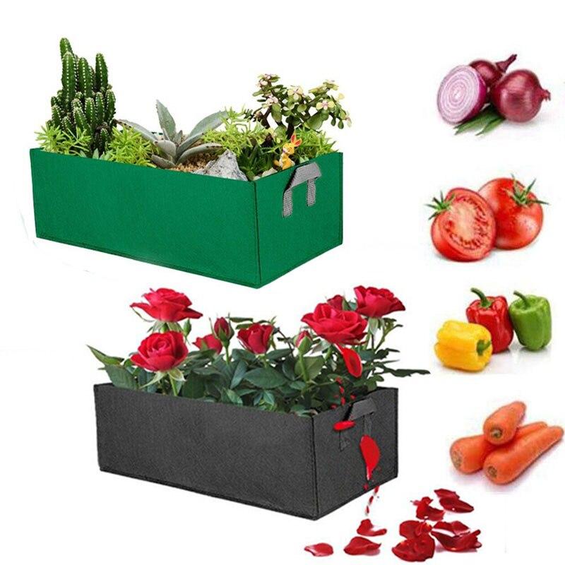 Мешки для выращивания растений, квадратная поднятая садовая кровать, Цветочный мешок для овощей, кастрюля, садовый инструмент, садоводство,...