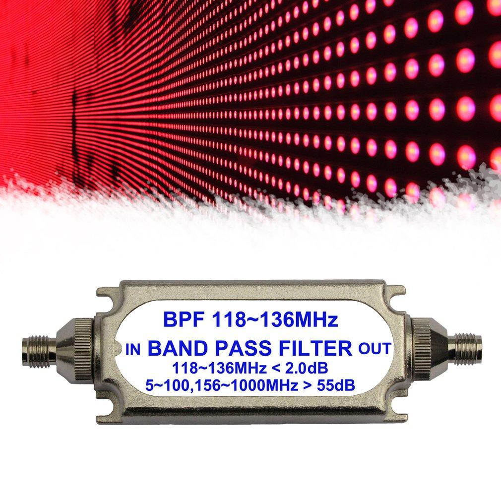 SMA соединитель полосного фильтра BPF 118-136 МГц для воздушного частотного диапазона внутриполосный фильтр пропуска Бесплатная доставка