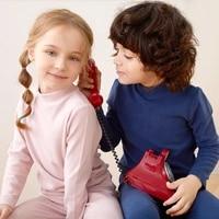 children set kids clothe boys girls cotton pyjamas tops pants 2 piece clothes keep warm sleepwear seamless underwear 2pcs suit