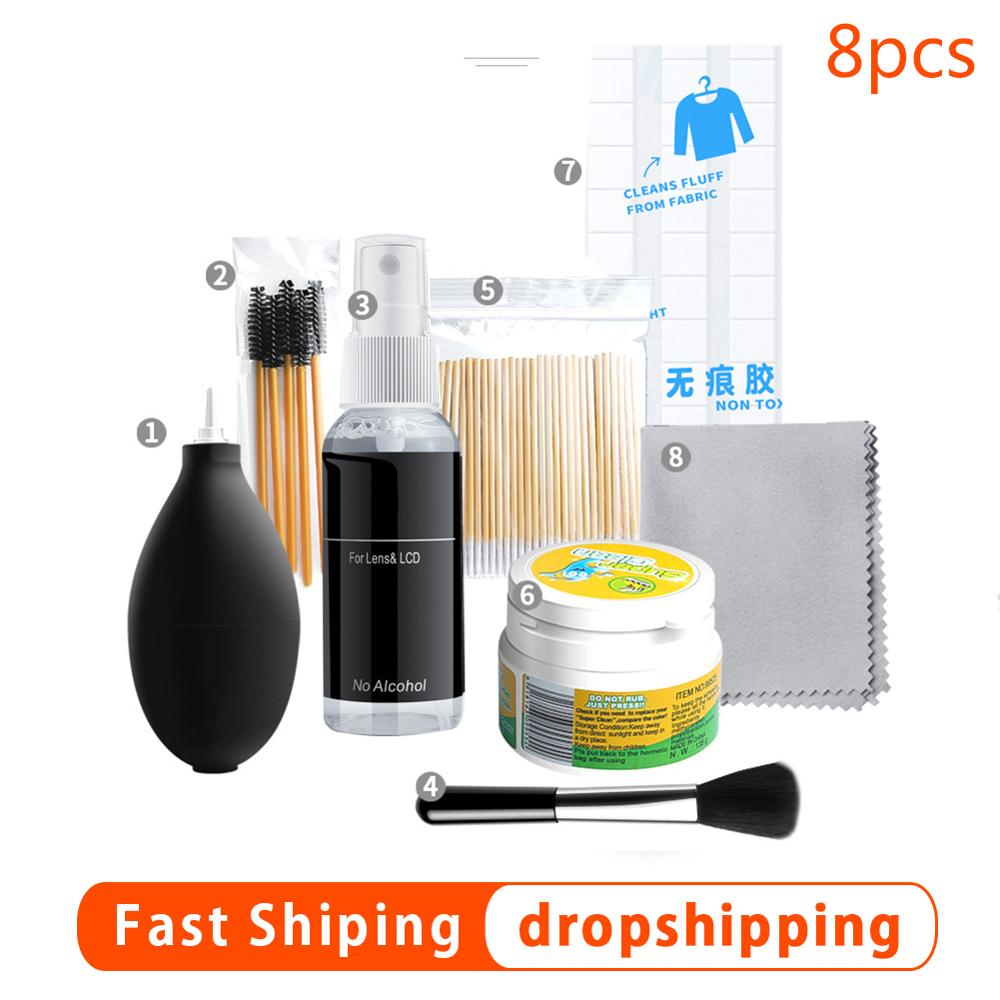 Wireless Headset Cleaning Kit +Cleaning Solution +Brush +Cleaning Mud+ Cotton Swab For Airpods Keyboard Smart Digital Equipment