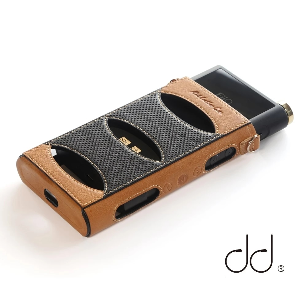DD ddHiFi C-M15 جلدية واقية الحال بالنسبة FiiO M15 مشغل موسيقى مع غطاء مقبض الباب الحرة والحبل