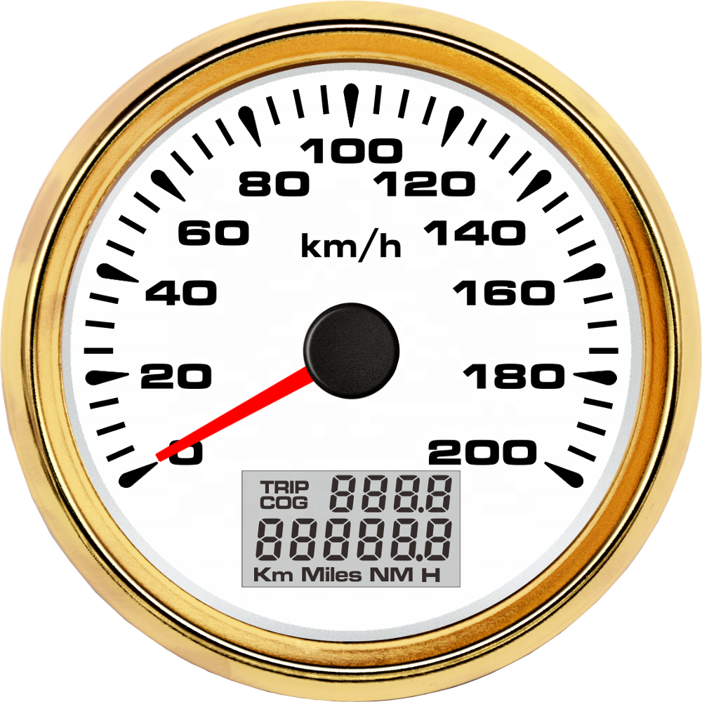 85mm GPS Speedometer 200km/h Odometer Hourmeter with 8 Backlights  - buy with discount