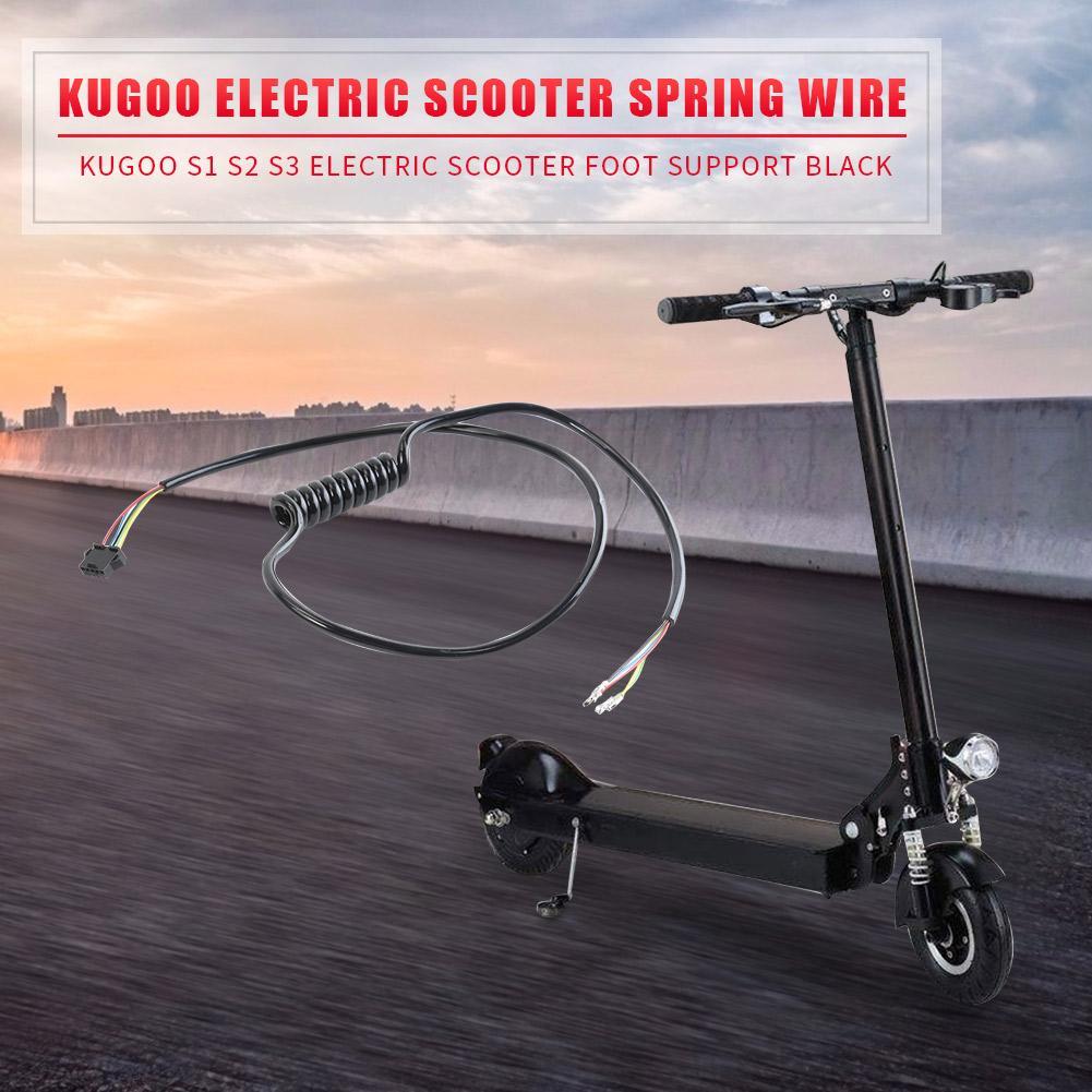 Cable de resorte de Scooter duradero diseño delicado Cable de muelle de Scooter eléctrico Cable de visualización de conexión Cable del controlador para Kugoo negro