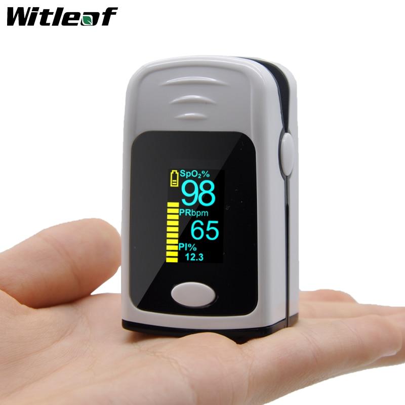White Pulsioximetro Medical Household Finger Oximeter Blood Oxygen Saturation Meter Heart Rate Monitor Health Care Tonometer