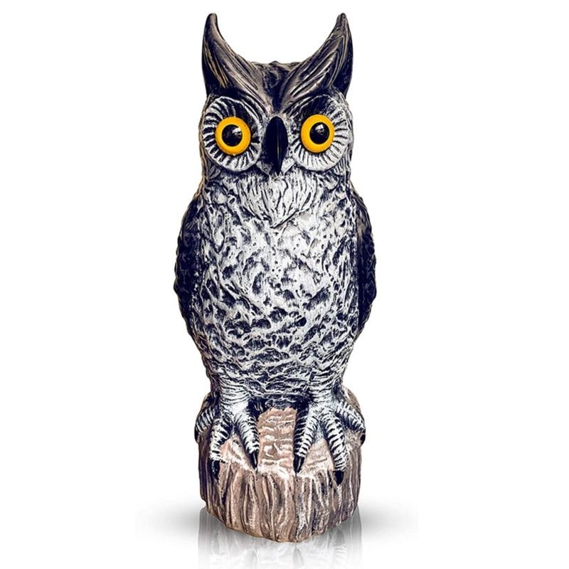 Simulation Owl Statue Garden Ornament Art Resin Craft Landscaping Yard Sculptures Decoration for Home Garden Patio Porch Decor