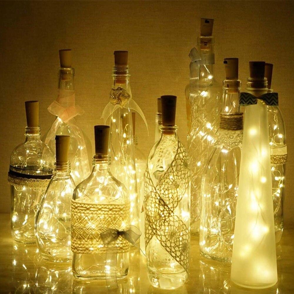 luzes de cortica para garrafa de vinho cabo de cobre com 5 10 unidades para decoracao