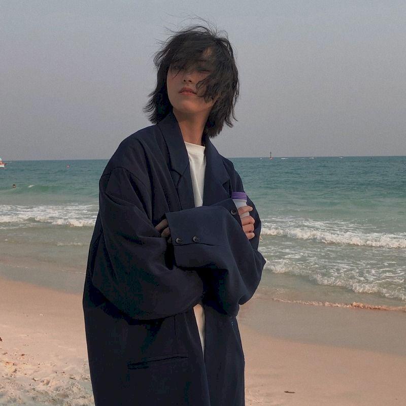 Женский блейзер большого размера, Повседневная Свободная верхняя куртка в Корейском стиле, Одежда большого размера для весны и осени, 2021