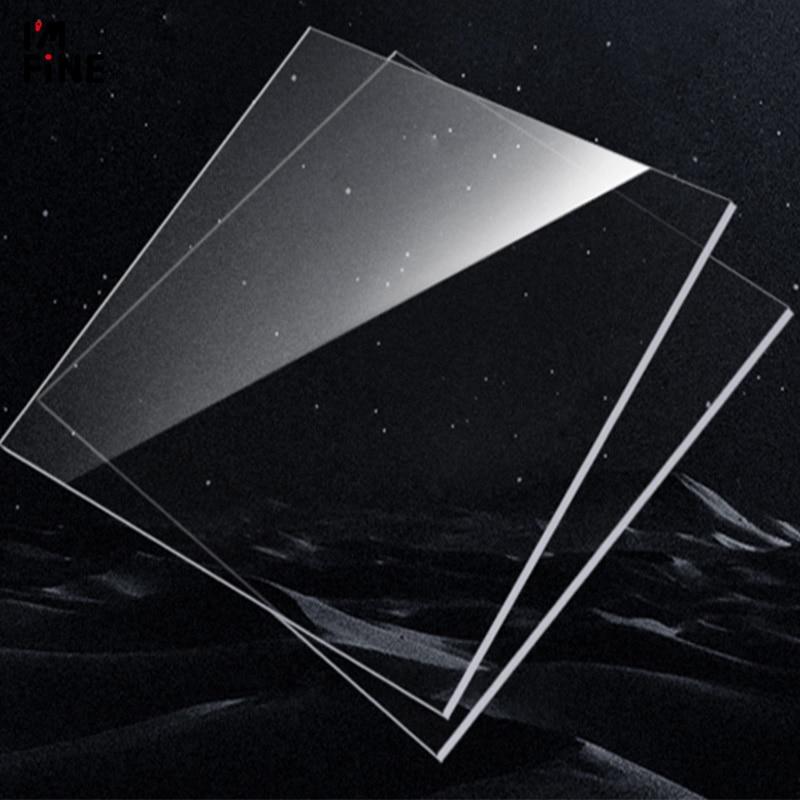 Espessura transparente 3mm do metacrilato do polymethrilate da placa do plexiglass da folha acrílica transparente do corte da folha de perspex dos tamanhos 8 mais barato