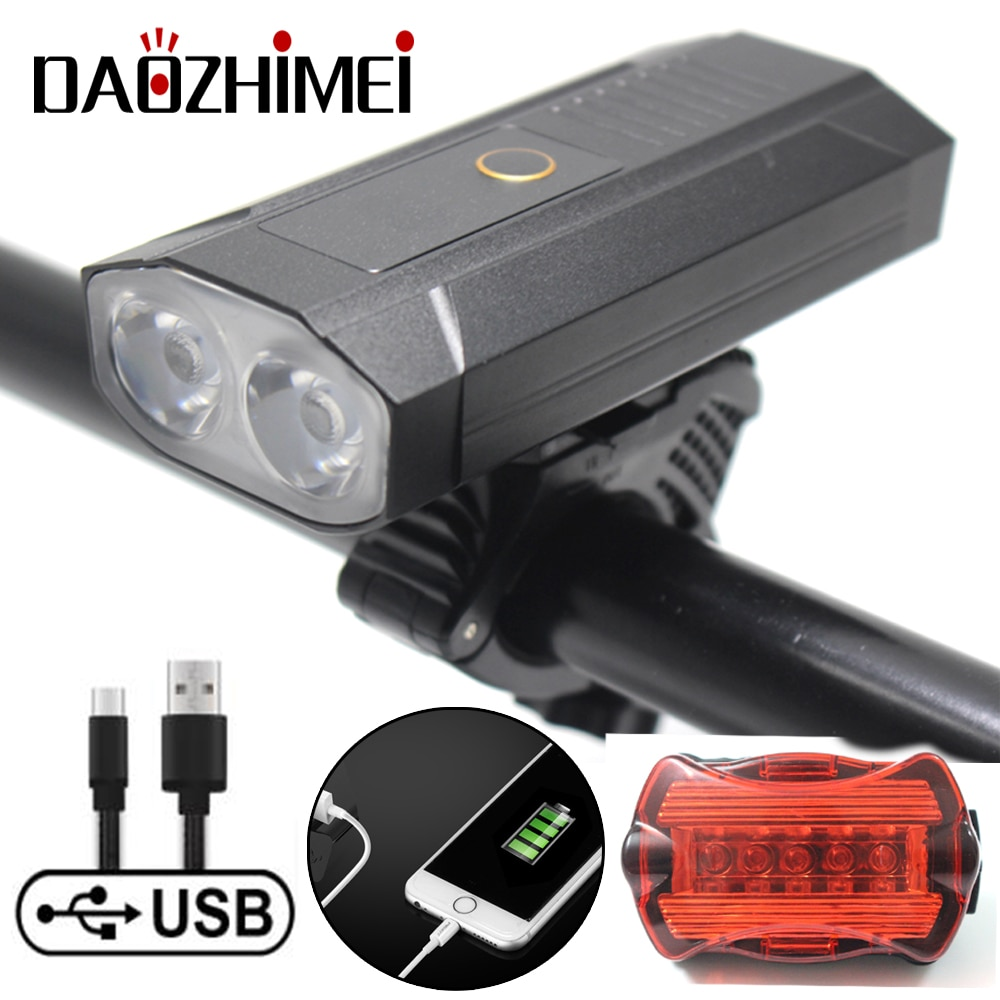 headlight format nb11 22 front 1 led domestic led 2400 mah ip65 Rechargeable Bicycle Light 2*T6 LED Bike Headlight IP65 Waterproof Cycling Flashlight MTB Front Lamp Power Bank Accessories