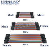 40PIN 10 см 20 см 30 см Dupont линия мужчин и женщин + женщин и женщин Перемычка dupont провода кабель для PCB DIY KIT
