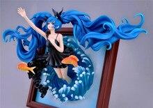 Anime 35cm jeu Photo Sexy cadre Photo Hatsune Miku mer profonde fille Ver 1/8 échelle PVC figurine jouets VOCALOID modèle LELAKAYA