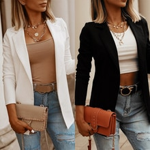 2021 Womens Ladies Cardigan Solid Long Sleeve Pocket Coat Outerwear Trench Coat Office ladies Work B