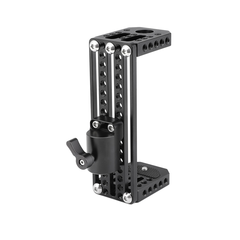 HDRIG On-camera Monitor Holder C Frame Cage Adjustable Height With Light Stand Head for  5