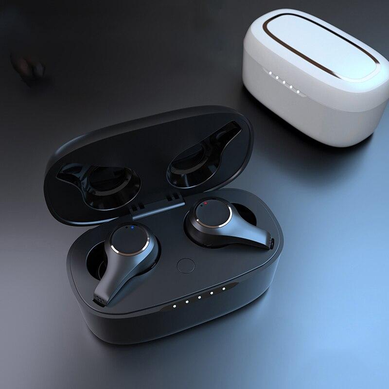 Fone de Ouvido sem Fio à Prova Ajustar o Volume Bluetooth Dwireless Água Microfone Duplo Cancelamento Ruído Ativo Toque Fones G08 Anc Tws V5.0