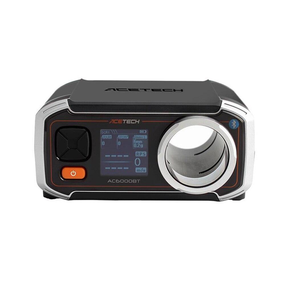 Bluetooth acetech ac6000 bt exclusivo cronógrafo velocímetro velocidade de disparo tester
