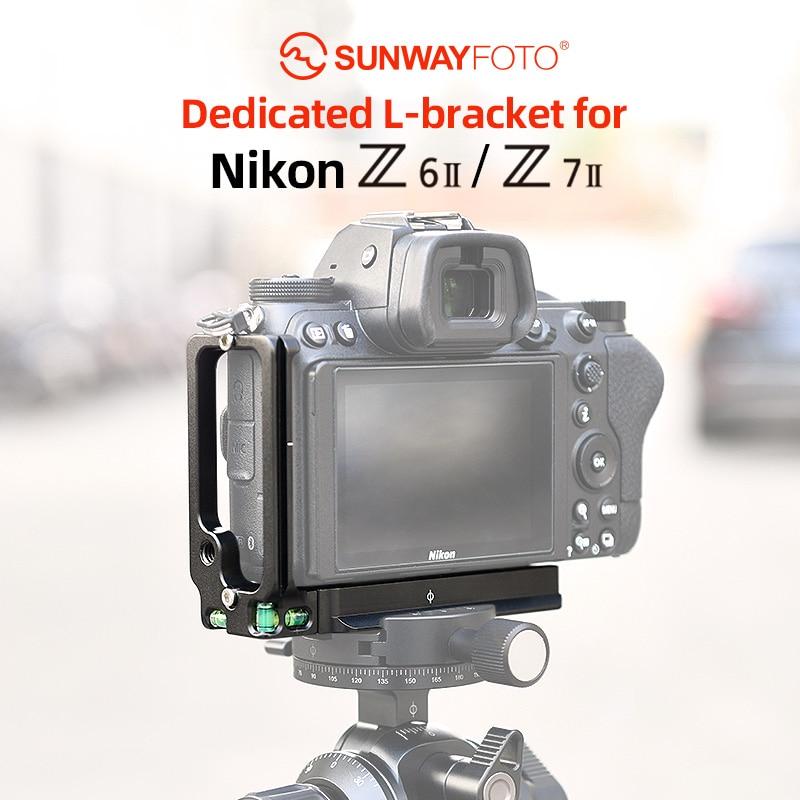 SUNWAYFOTO PNL-Z6II L-قوس لنيكون Z6II Z7II DSLR Arca / RRS متوافق مع لوحة الإفراج السريع