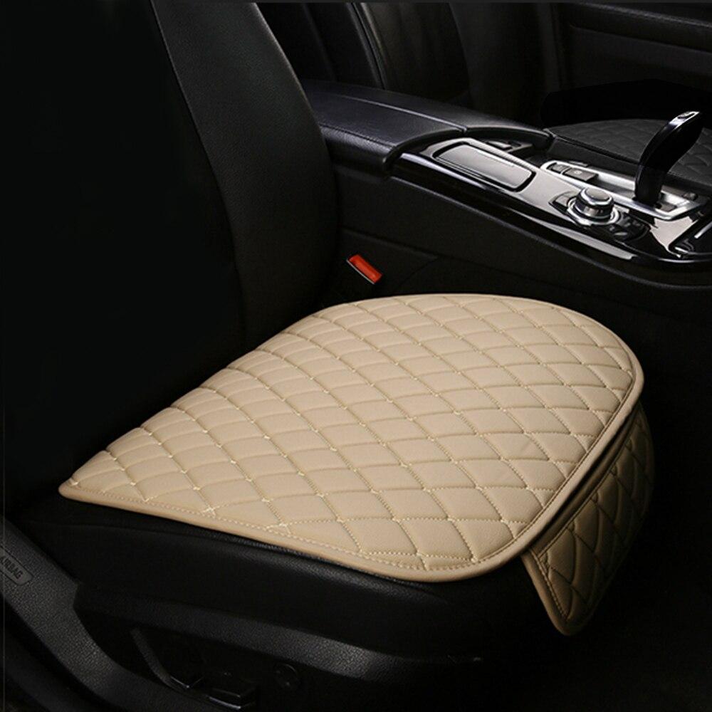 1PC Leather Front Car Seat Cushion Cover For CITROEN C2 C3 C4 Cactus C5 C4 Picasso C6 DS3 DS4 Protect Set Mat Leather Auto Goods