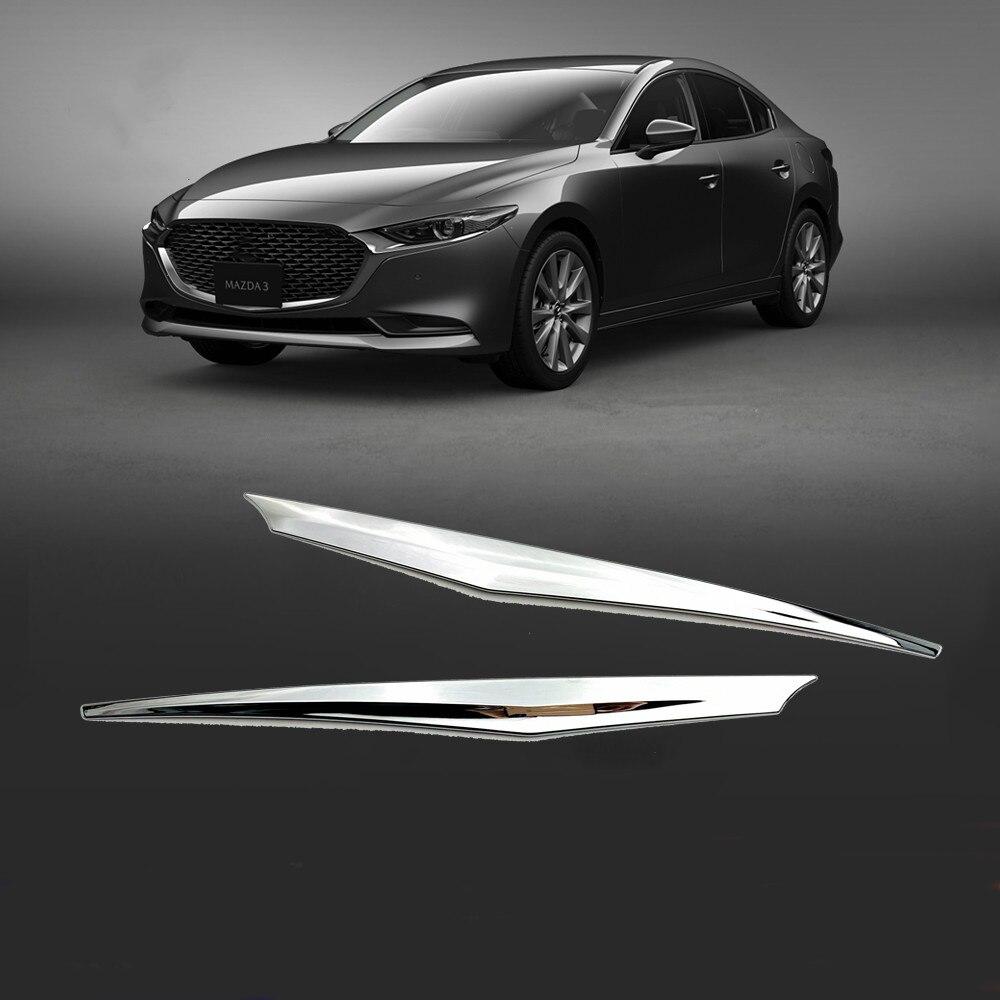 Auto Zubehör ABS Chrom Heckklappe Stamm deckel Abdeckung Trim Streifen Für Mazda 3 2020