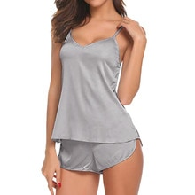 MIARHB Sexy Pajamas For Women Nightwear Satin Silk Sleepwear Ultra Thin Female Daily Sleep Lounge Ho