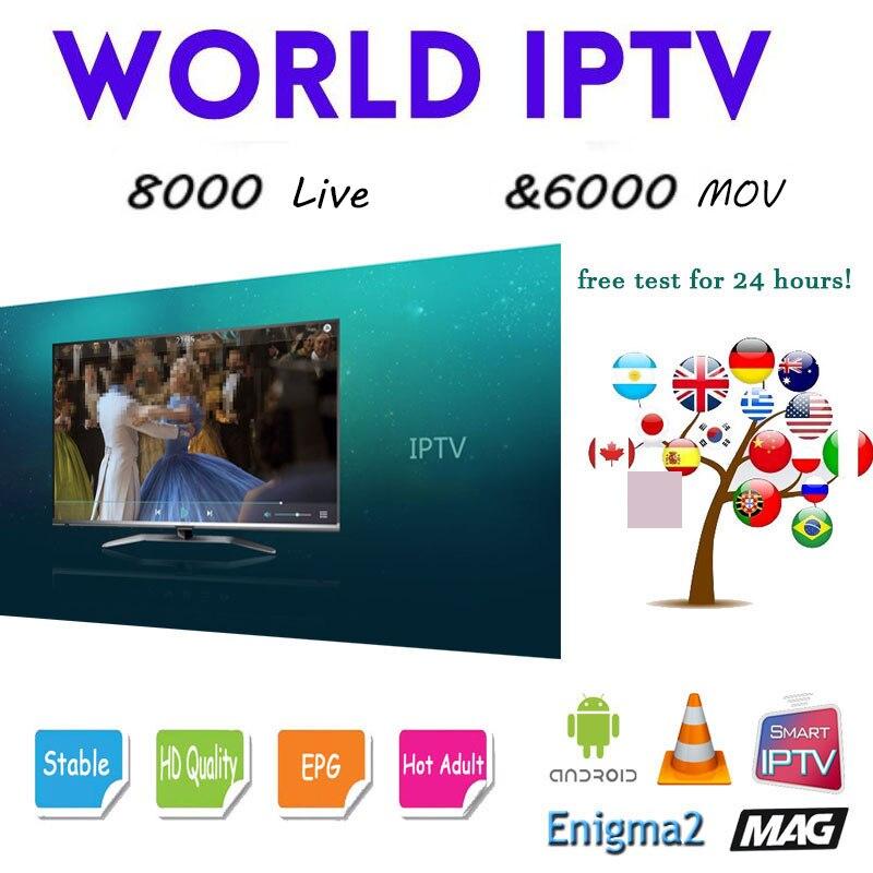Monde en direct IPTV 7500 + en direct sport gratuit adulte Xxx pour boîte de télévision Ssmart Android boîte de télévision Ssmart Tv Pc m3u Local en direct Tv Movistar