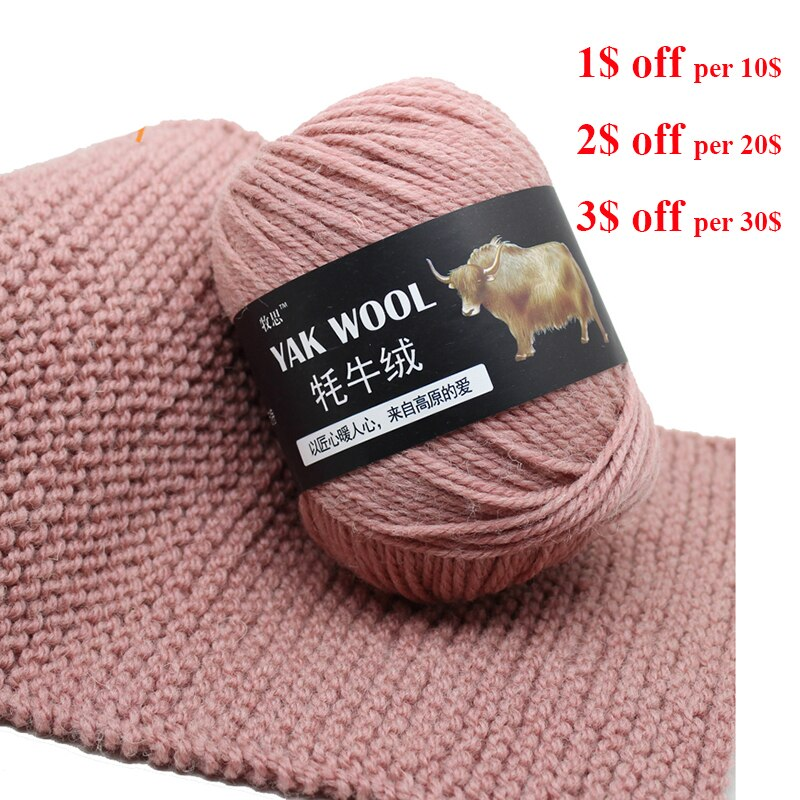 1 шт. 100 г тонкая камвольная смешанная пряжа для вязания крючком вязаный свитер шарф шерсть Як пряжа для вязания
