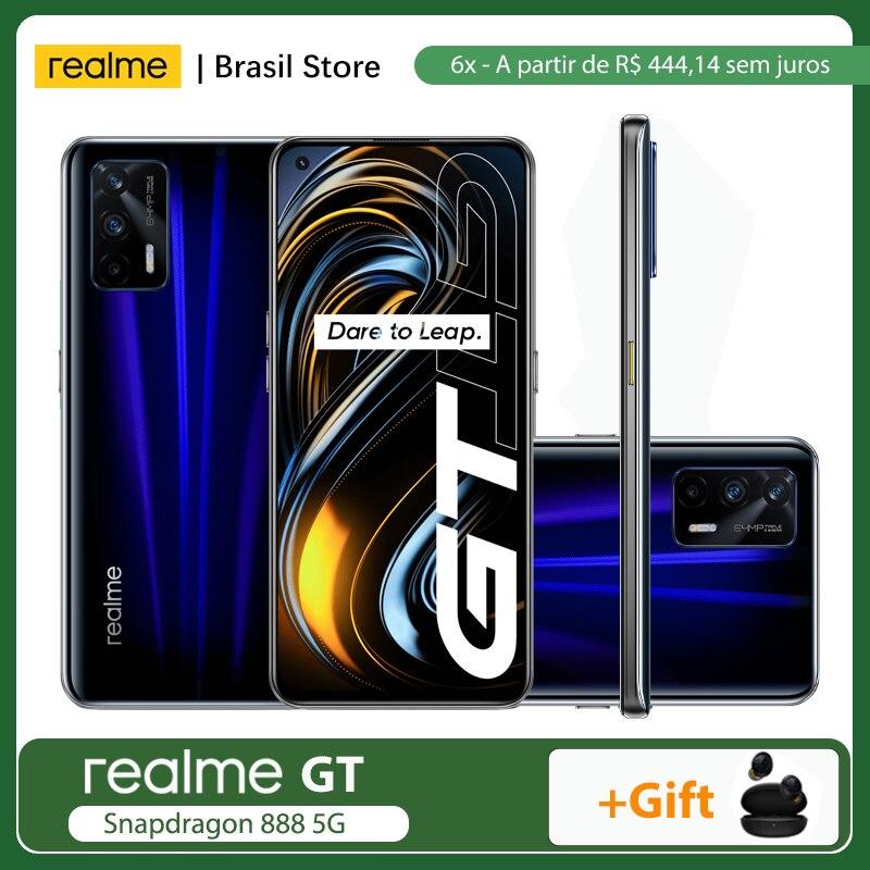 Перейти на Алиэкспресс и купить Предпродажа 6,2-6,15 realme GT глобальная версия, док-станция Qualcomm Snapdragon 888 5G 8 ГБ + 128 ГБ/12 Гб + 256 ГБ 65 Вт SuperDart заряда 120 Гц активно-матричные осид, NFC