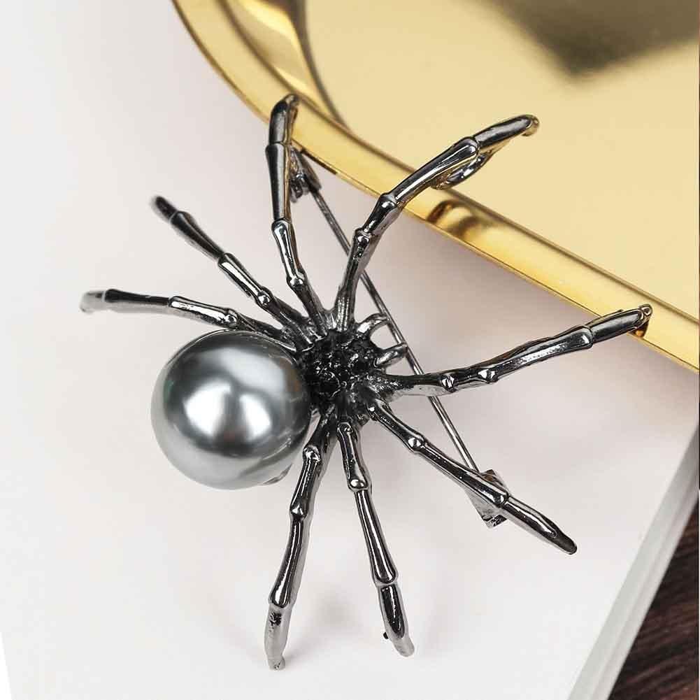 Mode femmes strass fausse perle araignée broche broche Corsage revers bijoux cadeau broche broche Corsage revers bijoux cadeau broche Pi
