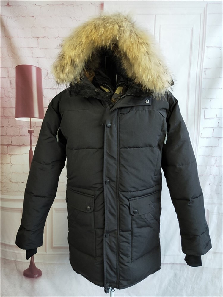 Outdoor winter Canadian Trend thickened warm men's goose down jacket
