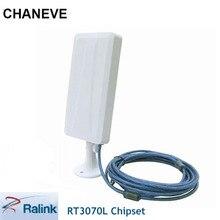 Alta potência 2000 mw ralink rt3070l adaptador usb sem fio 150 mbps de longo alcance usb wifi adaptador with14dbi antena para kali linux