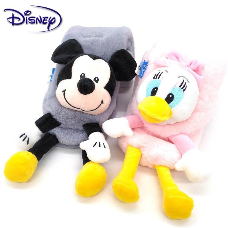 Disney Mickey Minnie invierno pañuelos para niños cálido bebé niños niñas bufanda sólida suave bufanda Collar niños Stretch anillo de cuello