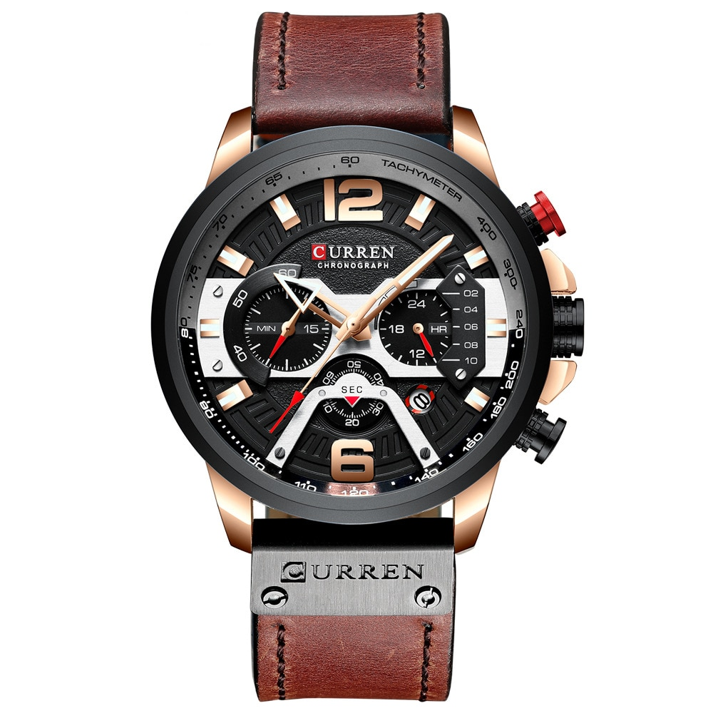 Relógio de Negócios Moda à Prova Masculino Prata Preto Inoxidável Dwaterproof Água Quartzo Relógio Criativo Cronógrafo Reloj Aço
