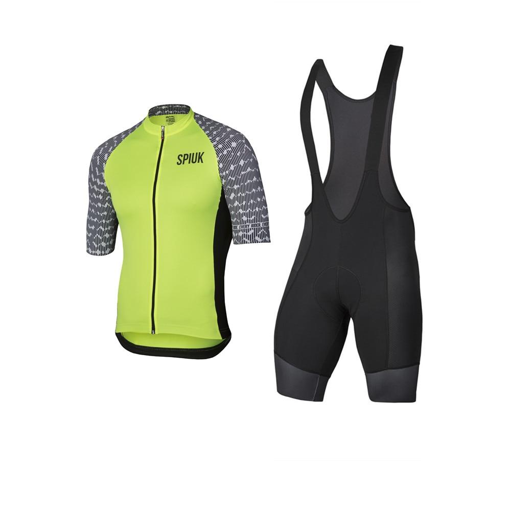 Spiukful-Culote de ciclista para hombre, traje con almohadilla de Gel de manga larga, ropa cómoda para Ciclismo de montaña